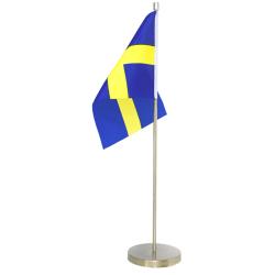 Bordsflagga / Svensk Flagga - Sverige - i Metall