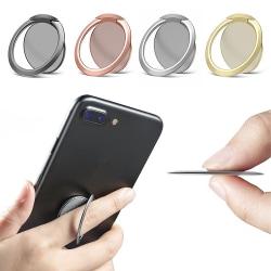 2-Pack - Tunn Mobilring / Mobilhållare Ringhållare Mobil - 1.8mm Svart