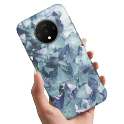 OnePlus 7T - Skal / Mobilskal Blåa Fragment