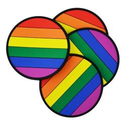 Glasunderlägg - Regnbåge / Pride - Underlägg till Glas