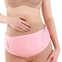 Gravidbälte / Magstöd för Gravida - Justerbart stödbälte Pink L (Rosa)
