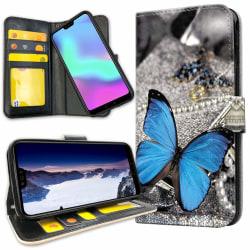 Huawei P30 Lite - Plånboksfodral Blå Fjäril