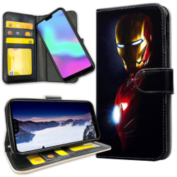 Huawei P30 Lite - Plånboksfodral Glowing Iron Man