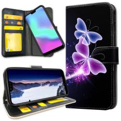 Huawei P30 Lite - Plånboksfodral Lila Fjärilar
