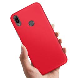 Huawei Y6 (2019) - Skal / Mobilskal Röd Röd
