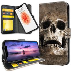 iPhone 11 Pro Max - Plånboksfodral Cracked Skull