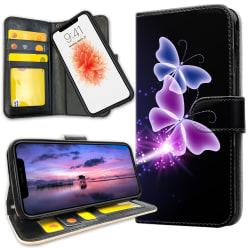iPhone 11 Pro Max - Plånboksfodral Lila Fjärilar