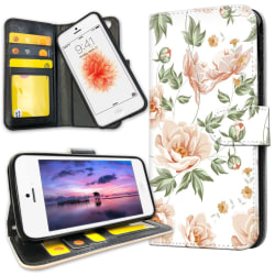 iPhone 5C - Plånboksfodral Blommönster