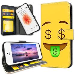 iPhone 5C - Plånboksfodral Emoji / Smiley