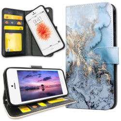 iPhone 5C - Plånboksfodral Konstmönster