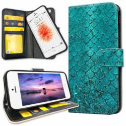 iPhone 5C - Plånboksfodral Kronbland Mönster