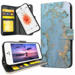 iPhone 5C - Plånboksfodral Marmor