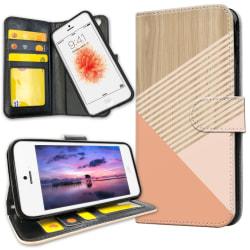 iPhone 5C - Plånboksfodral Träkonst
