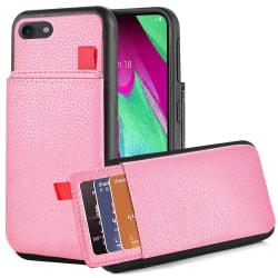 iPhone 8 - Skal med Dolt Kortfack / Korthållare - Rosa Rosa