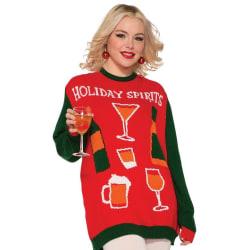 Jultröja - Rolig - Julkläder - Jul - Holiday Spirits (XL)