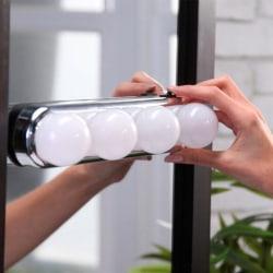 LED-lampa med Sugkopp för Spegel - Spegelbelysning