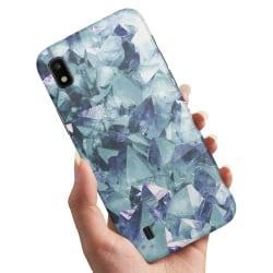 Samsung Galaxy A10 - Skal / Mobilskal Blåa Fragment