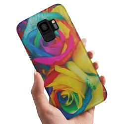 Samsung Galaxy A6 (2018) - Skal / Mobilskal Färgade Rosor
