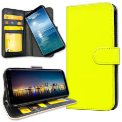 Samsung Galaxy J4 Plus - Plånboksfodral Gul Gul