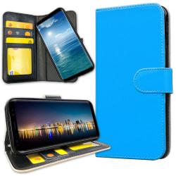 Samsung Galaxy J4 Plus - Plånboksfodral Ljusblå Ljusblå
