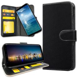 Samsung Galaxy J4 Plus - Plånboksfodral Svart Svart