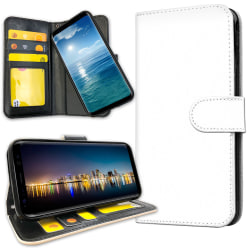 Samsung Galaxy J4 Plus - Plånboksfodral Vit Vit