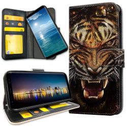 Samsung Galaxy S10 Plus - Plånboksfodral Rytande Tiger