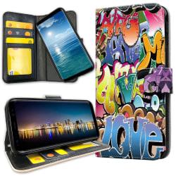 Samsung Galaxy S10e - Plånboksfodral Graffiti