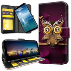 Samsung Galaxy S20 Ultra - Plånboksfodral Ljusbrun Uggla