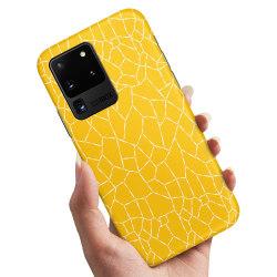 Samsung Galaxy S20 Ultra - Skal / Mobilskal Gult Mönster