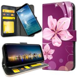Samsung Galaxy S8 Plus - Plånboksfodral Vit Blomma Vit