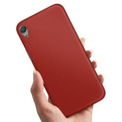 Sony Xperia X - Skal / Mobilskal Mörkröd Mörkröd