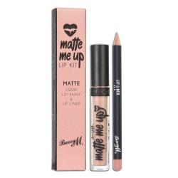 Barry M Veganfriendly Gloss Matte Me Up Lip Paint Kit-Hun Rosa