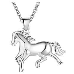 Gulligt Silver Halsband - Söt Häst Silver