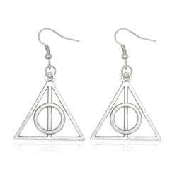 Harry Potter Örhängen - Deathly Hallows - Dödsrelikerna - Silver Silver