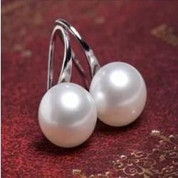 Silver Örhängen med Vit Pärla / Pärlörhängen Silver