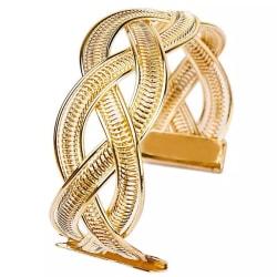 Stelt Guld Armband / Bangle med Flätad Design Guld
