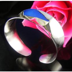 Stelt Silver Armband - Stor Bangle - Elegant & Stilrent  Silver