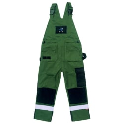 Hängselbyxa med Loxy-reflex Grön 130
