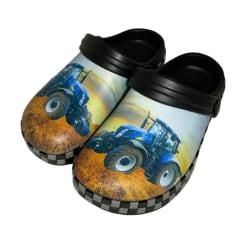 Plasttofflor Blå Traktor 23