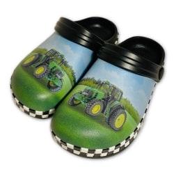 Plasttofflor Grön Traktor 28/29