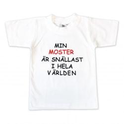 T-shirt Min moster är snällast i hela världen! 90 (86/92)