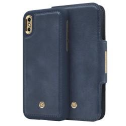 iPhone X/Xs Marvêlle Magnetiskt Skal & Plånbok Marinblå