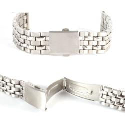 Klockarmband polerat rostfritt stål 5radigt   18mm Silver 18mm