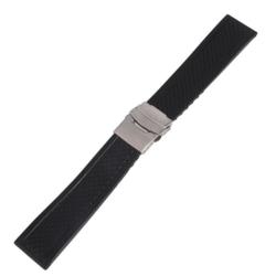 Klockarmband Silicon 22mm Black 22mm