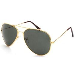 Solglasögon Pilot Polariserad   Inkl fodral Guld