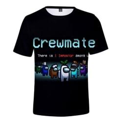 Among Us, T-Shirt för Barn, Crewmate - Storlek 160 MultiColor 164