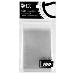 Transparenta Plastfickor för Spelkort 100-pack Transparent