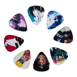 10 pack Plektrum, Naruto multifärg