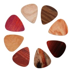 10 pack Plektrum, Trä multifärg